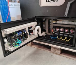 Roaster electrical cabinet