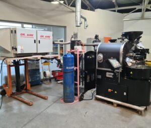 Electrostatic Precipitator with coffee roaster