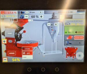 SR25 coffee roaster display